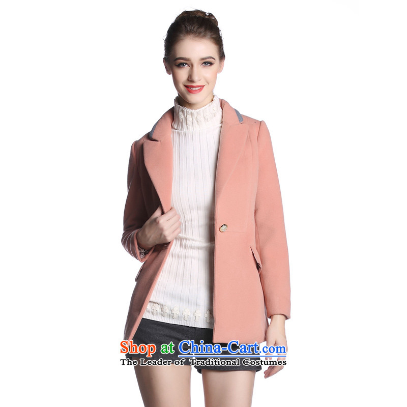 Hayek terrace _female_ pink MAXILU stylish temperament commuter long-sleeved coats M862A3050C24 L