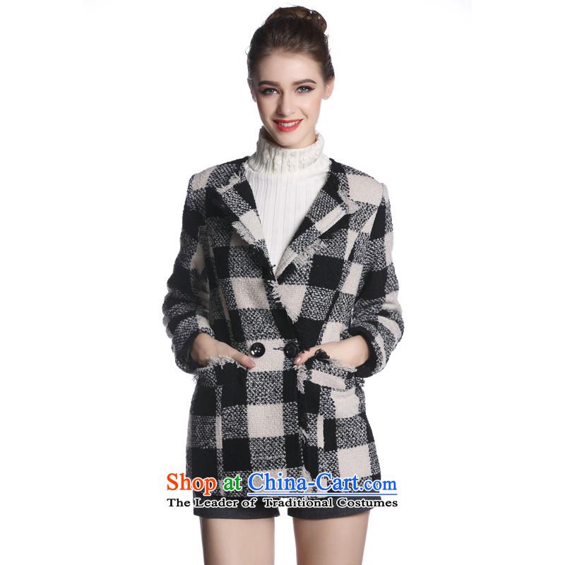 Hayek terrace _black and white_ MAXILU field燤862A3058C60 coats M