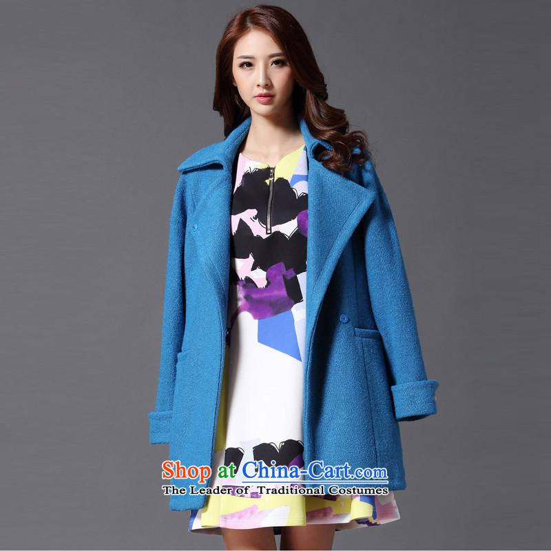 Hayek terrace _MAXILU_ Blue is simple and stylish coat燤862A2033C05? L