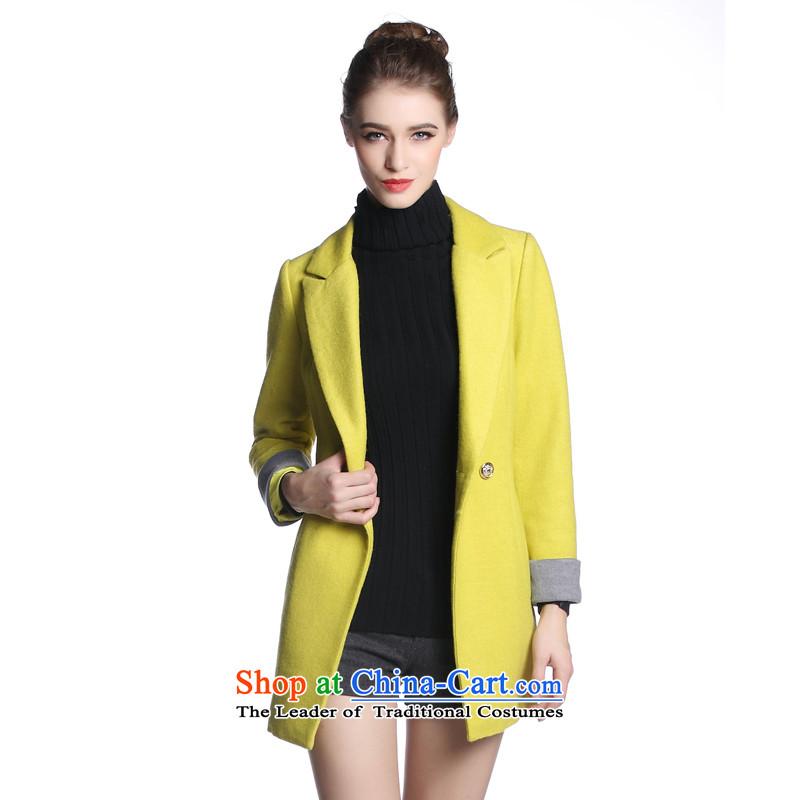 Hayek terrace (MAXILU) yellow stylish and elegant coatsM862A2030C27 XL