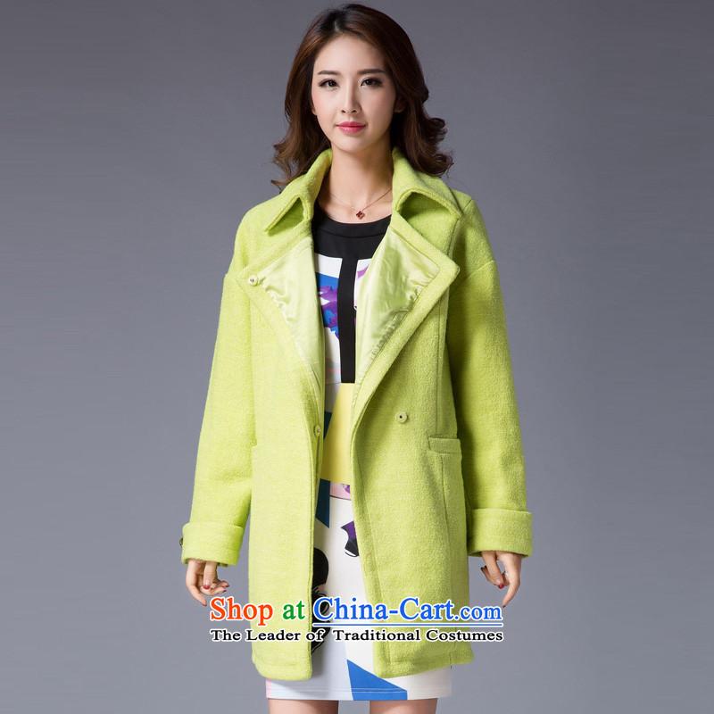 Hayek terrace _MAXILU_ Green is simple and stylish coat燤862A2033C07? M