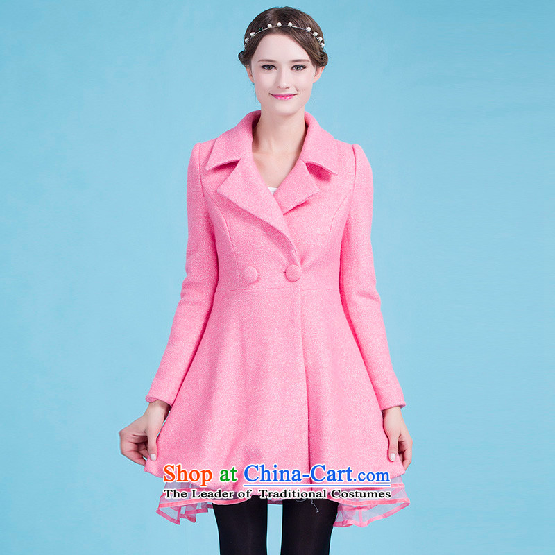 Blue silk Doi _lansda_ Sau San petticoats a wool coat J13414015110 emblazoned with the pink燣