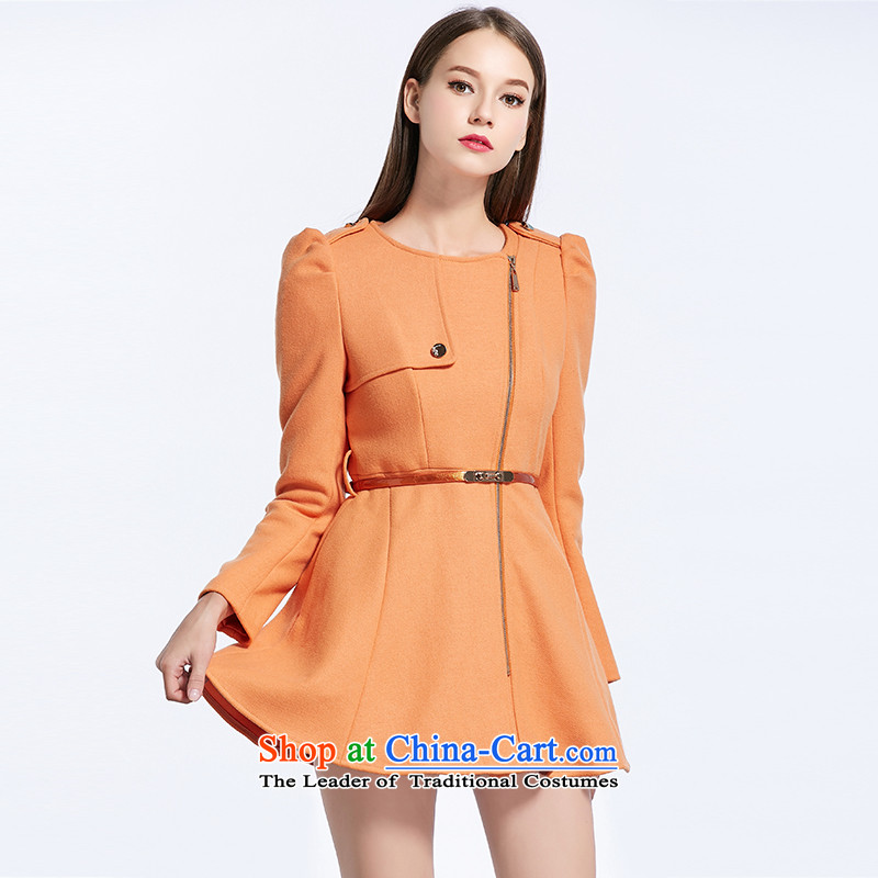 The breakdown of the autumn and winter new ultra long overcoat so gross 1144114001 orange聽L