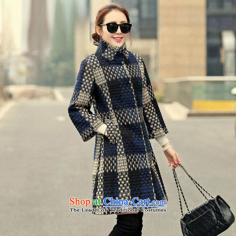 Sin has so gross jacket female Korean autumn 2015 Installed New Sau San in seven long-sleeved sweater coarse wool terylene collar jacket TNAYG8852 picture color XL