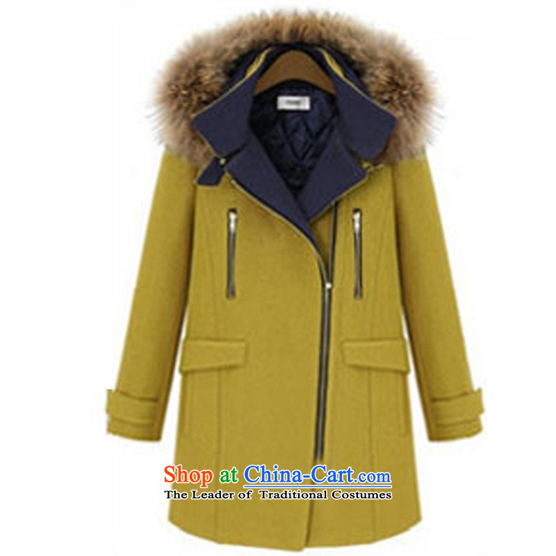 The chemist _Korea_ is a stylish XINYARAN Nagymaros collar gross聽FXQ1569 coats聽Yellow聽M?