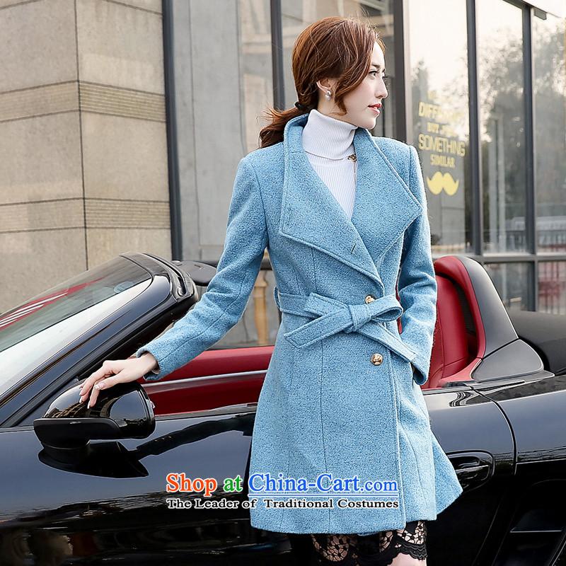 燣oad the autumn 2015 has sin new Korean citizenry video thin solid color Stylish coat female爐nwenr126 gross?燘lue燤