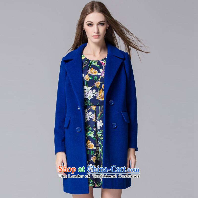 Arts _yiman Overgrown Tomb_ Blue Stylish coat燳867A5002C05 Sau San M