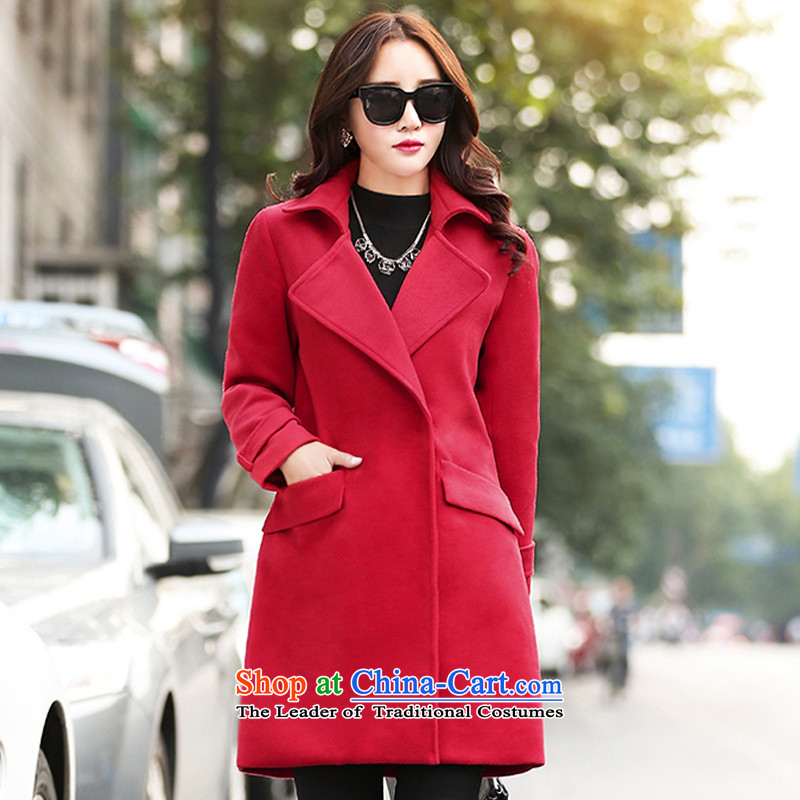 OfKorean Contemporary XINYARAN so lapel jacketJYY802 gross?large redL