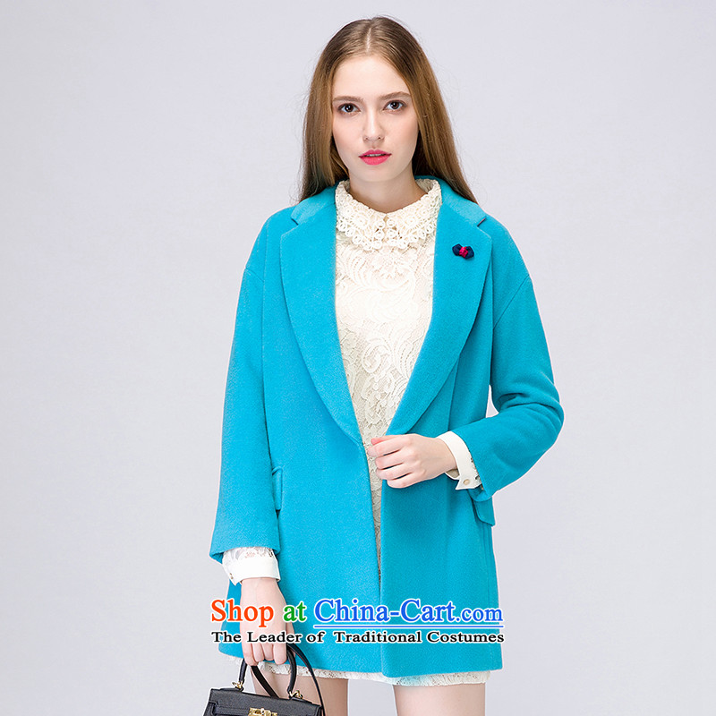 The concept of child-care _winter coats of paipuer_ wool a OL jacket燚D61484B5 blue L