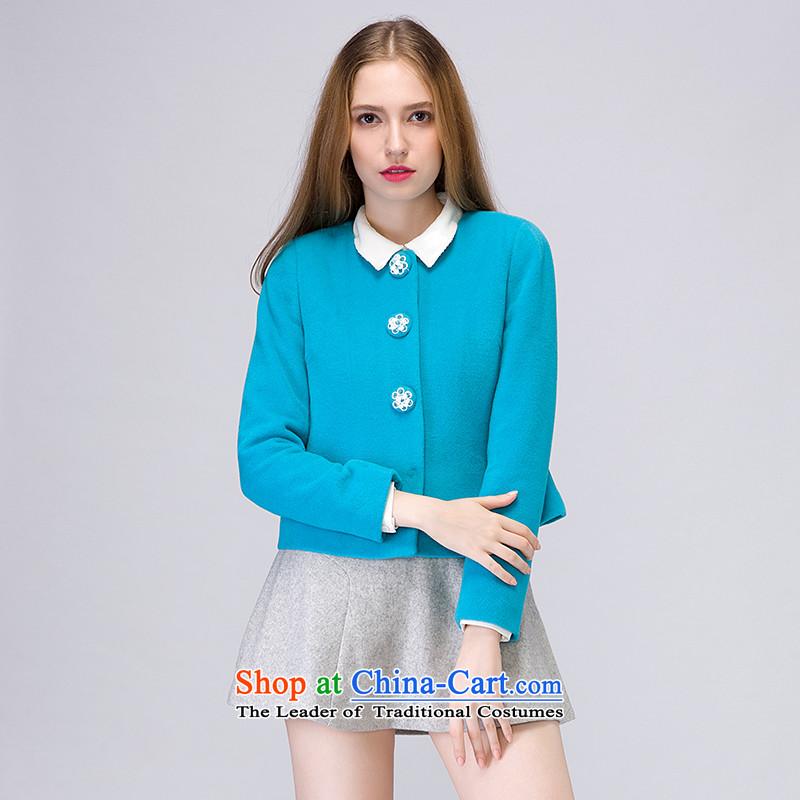 The concept of child-care _winter coats_ Smaller paipuer Heung-short Fleece Jacket燚D11509B5? Blue M