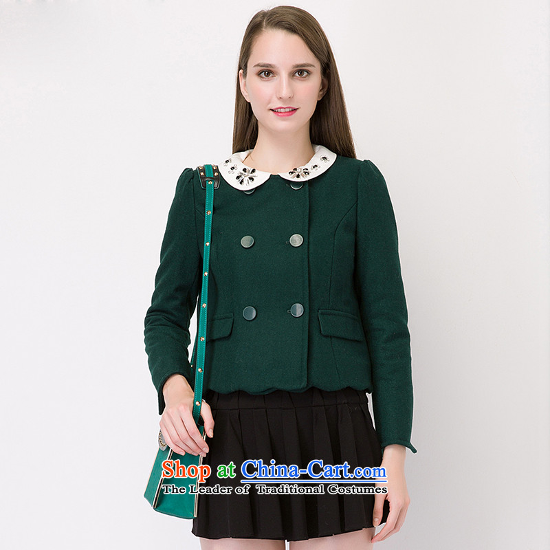 The concept of child-care _gross_? coats paipuer fall short woolen coats DQ63458L3? dark green L