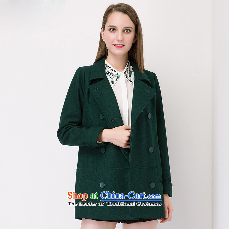 The concept of child-care _gross_? coats paipuer woolen coats of autumn燚Q61463L3? dark green L