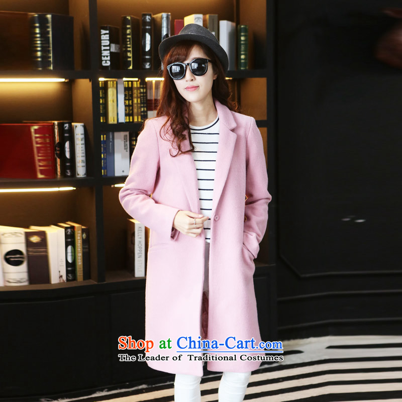 8 forged Kam (gross)? coats BETOUCH new Korean autumn and winter coats female gross?   in the medium to long term, suit gross? a wool coat women jacket A8072 pink L