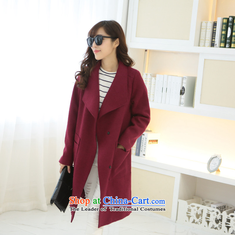 8 forged Kam _gross_? coats BETOUCH 2015 new Korean version of autumn and winter long coats of large female?   wool coat A0026? chestnut horses M