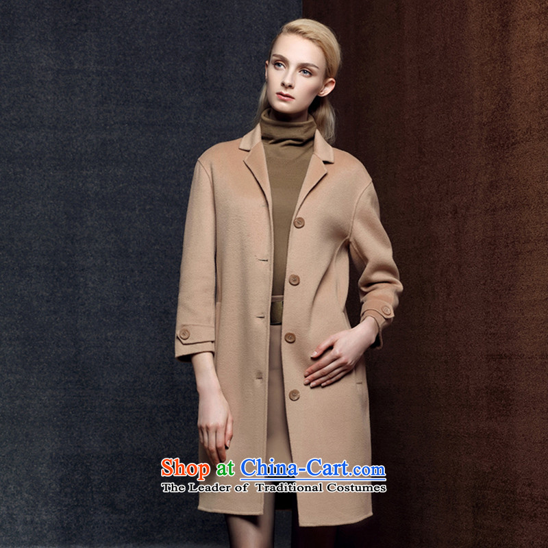 Strawman _MEXICAN_ 2015 2-sided cashmere overcoat girl in gross? long length of autumn and winter new single row detained wool a wool coat 8003 and color L