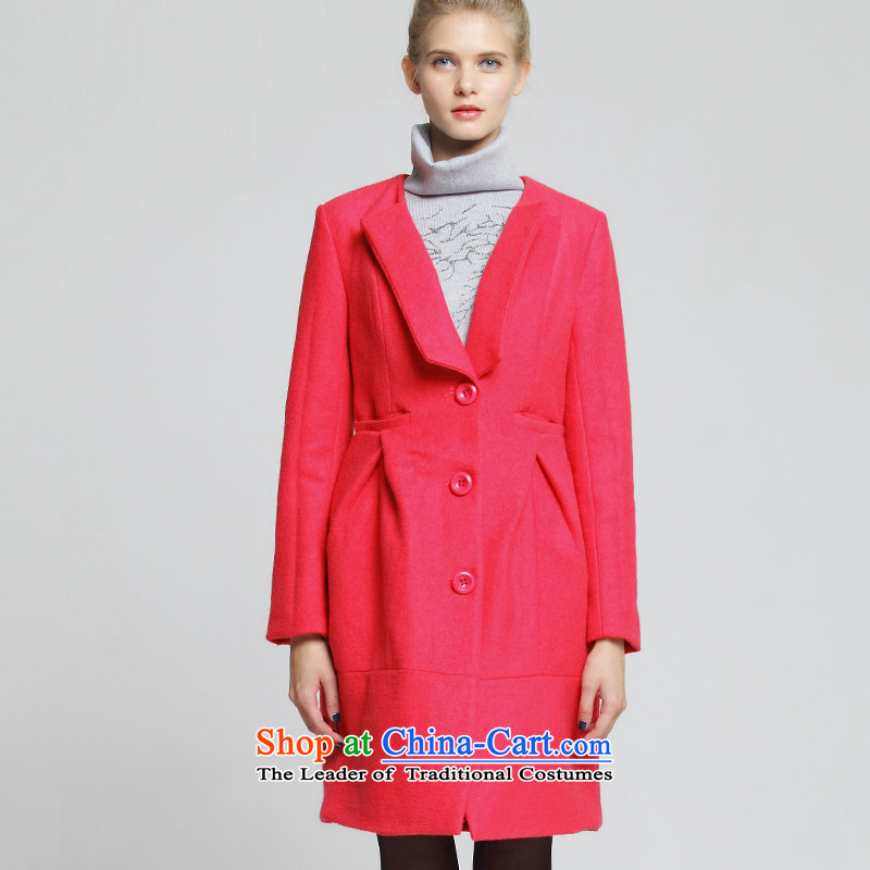 Hundreds of Praia Gigi Lai _01232105009409 BIOPLAZM_ long coats of gross? RED M