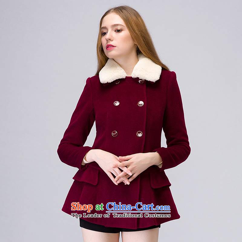 The concept of child-care _winter coats of paipuer_ aristocratic rabbit hair for gross燚D61489R4 jacket, dark red S?