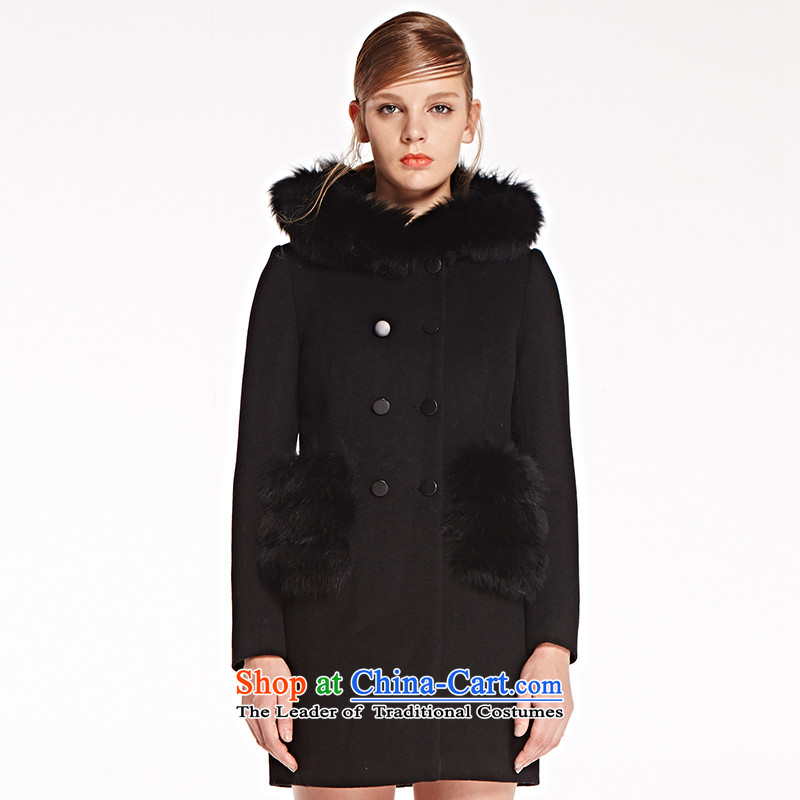 The concept of child-care _paipuer_ gross for winter coats hoodie燚D61557J1 black L