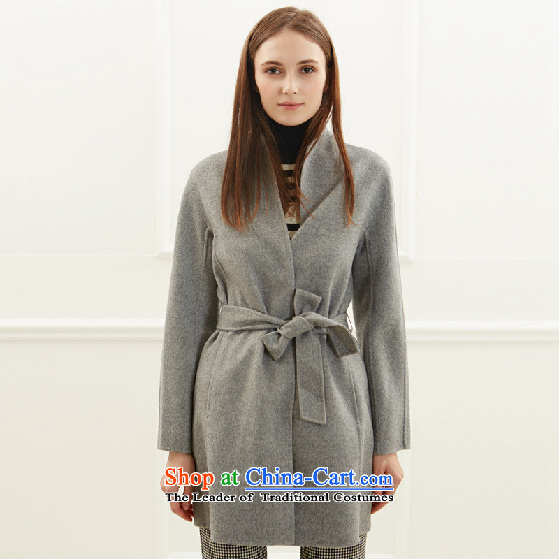 Po Chong (BAOCHUANG) Ms. 6938A702004 gray double-side coats and stylish M