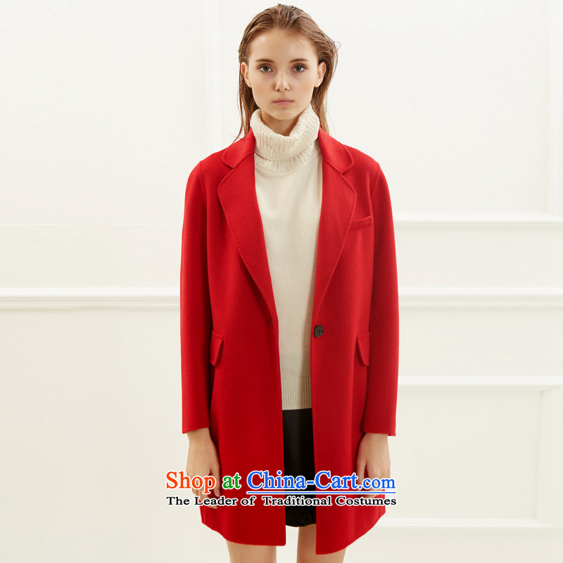 Po Chong (BAOCHUANG) Ms. 6937A706006 red double-side coats and stylish L