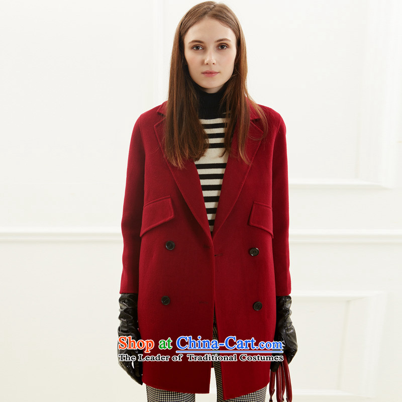 Po Chong (BAOCHUANG) Ms. 6925A768008 wine red stylish double-side coats XL