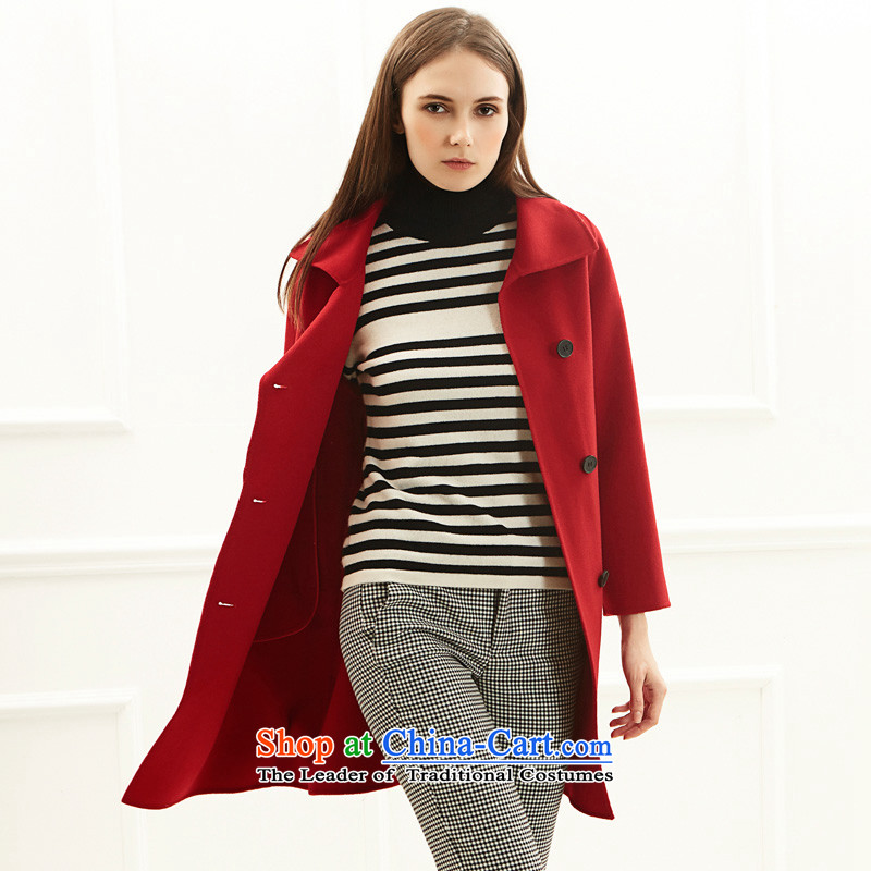 Po Chong (BAOCHUANG) Ms. 6921A706008 red double-side coats and stylish XL