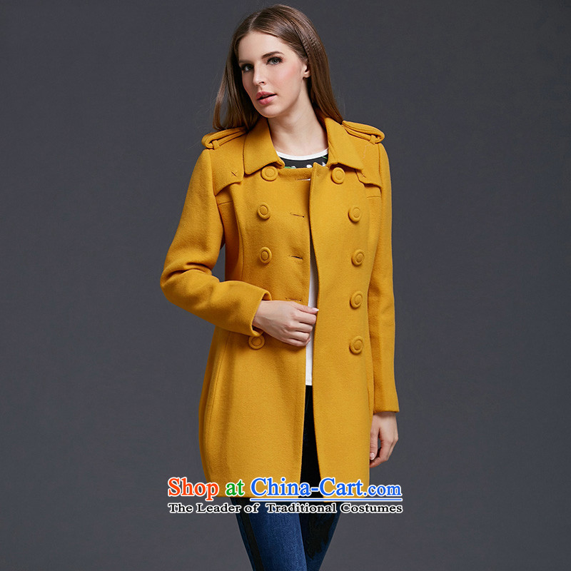 Thousands of爊ew products by 2015 winter fine wool? overcoat 1144514006 Yellow燤