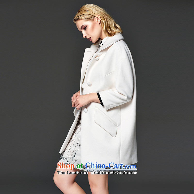 The temperament cocoon-li-wool coat white S LL215407039?