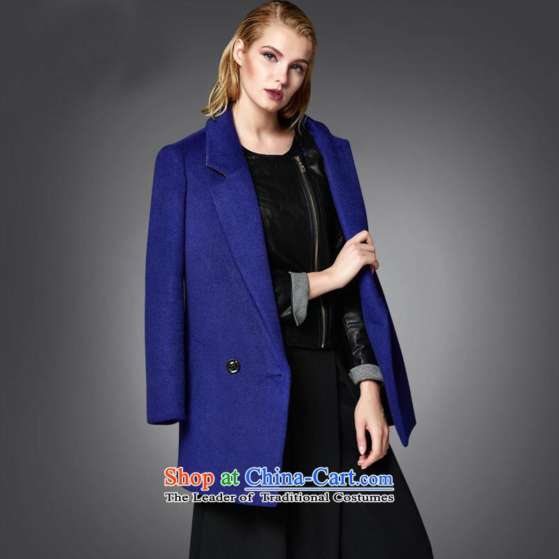 Lily lapel elegant H-blue coat gross? M LL215407041