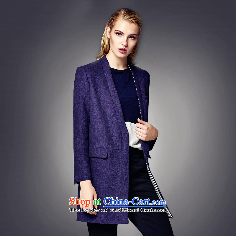 Lily simple long H type gross? navy blue coat LL215307002 M