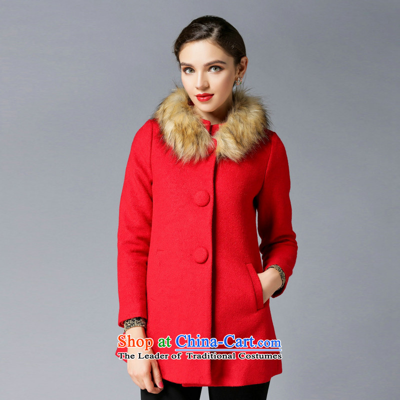 Consideration LISHA Lisa _gross_ for the long winter of this gross jacket video thin red cloak XXL 3,304 temperament