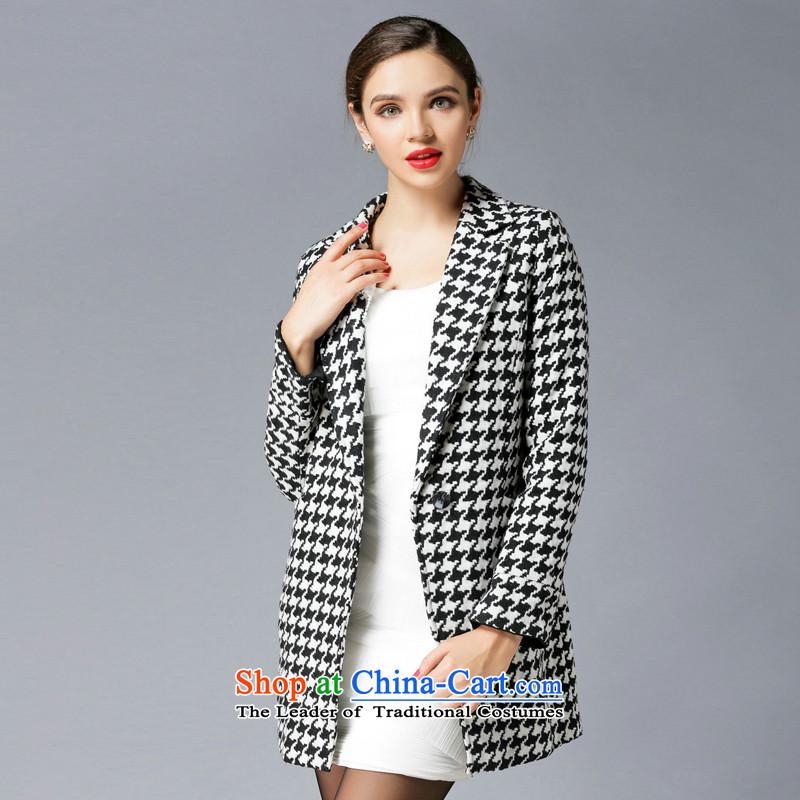 Consideration Lisa (LISHA), a Chidori-jacket coat? gross chidori grid XXL 3302