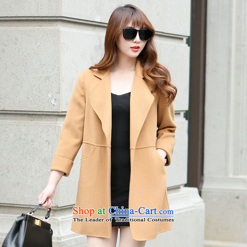 Hengyuan Cheung gross in Ms. coat? long double-side jacket and color SXM222222 L