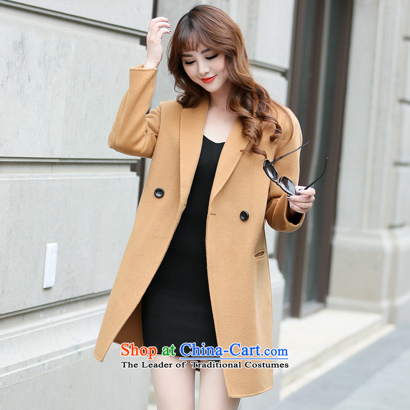 Hengyuan Cheung gross in Ms. coat? long double-side jacket and color SXM333333 L