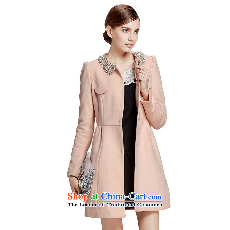 Chaplain Mai-mai _CHIU SHUI_ Korean sweet Foutune of video thin a wool coat pink 1341E122003 XL