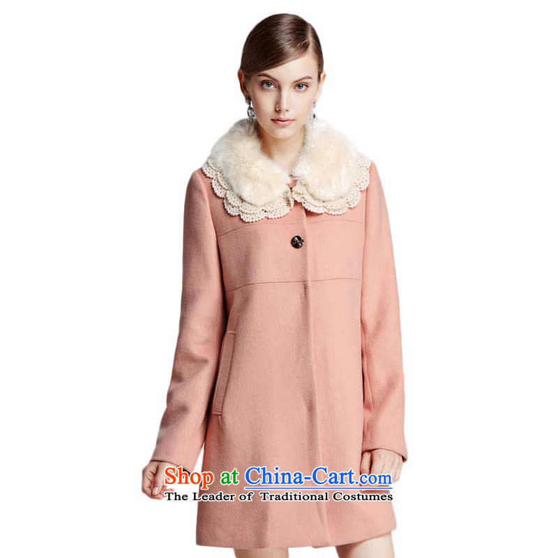 Chaplain Mai-mai _CHIU SHUI_ can be shirked gross for pure color long jacket coat Sau San nude S 634112195