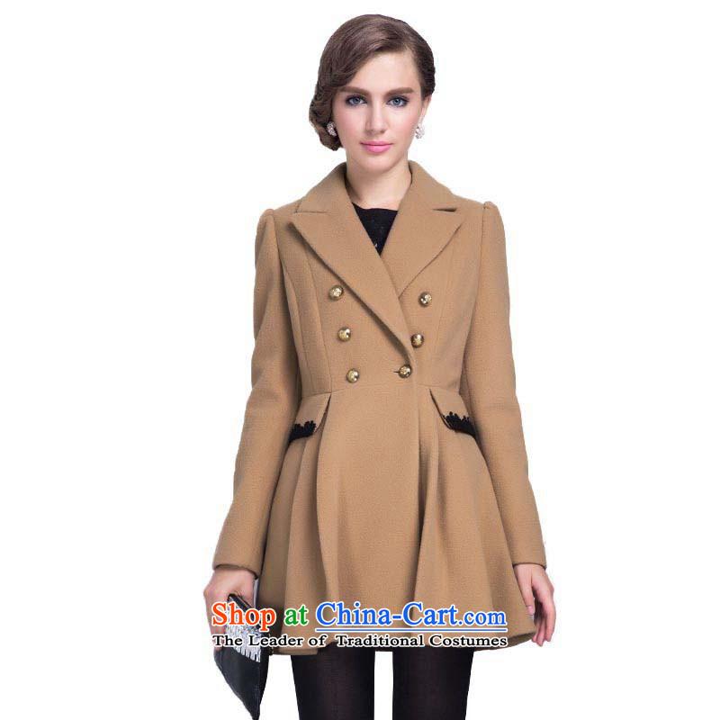 Chaplain Mai-mai (CHIU SHUI) elegant ladies double-small umbrella would coats jacket and color L 634112050