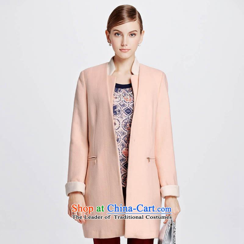 Chaplain Mai-mai _CHIU SHUI_-type auricle cocoon gross jacket pink燲L 1341E122044?