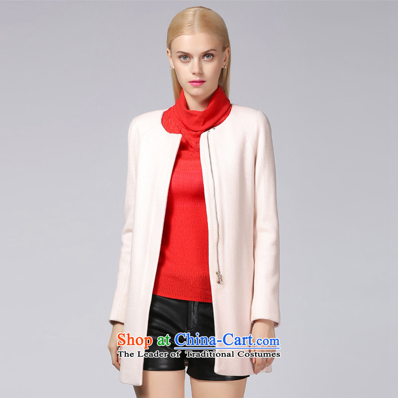 Ditto D13DR589燼utumn and winter new stylish simplicity in long hair? coats pink燣