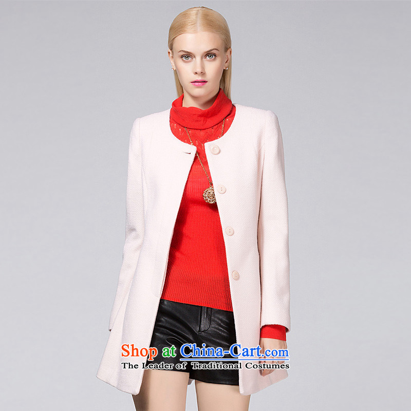 Ditto D13DR566 autumn and winter new stylish wild in the long hair? coats m apricot L