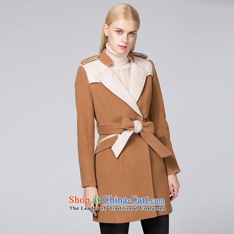 Ditto D13DR544聽autumn and winter new stylish lapel Sau San over the medium to longer term gross coats and color聽L?