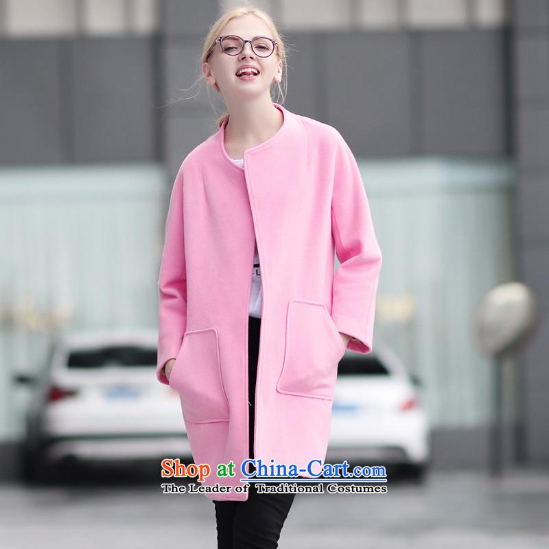 Qigirlround-neck collar and coatsQG7289?pink S
