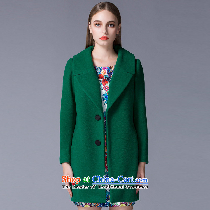 Arts _yiman Overgrown Tomb_ Dark green stylish temperament gentlewoman coats Y867B4056C71 L