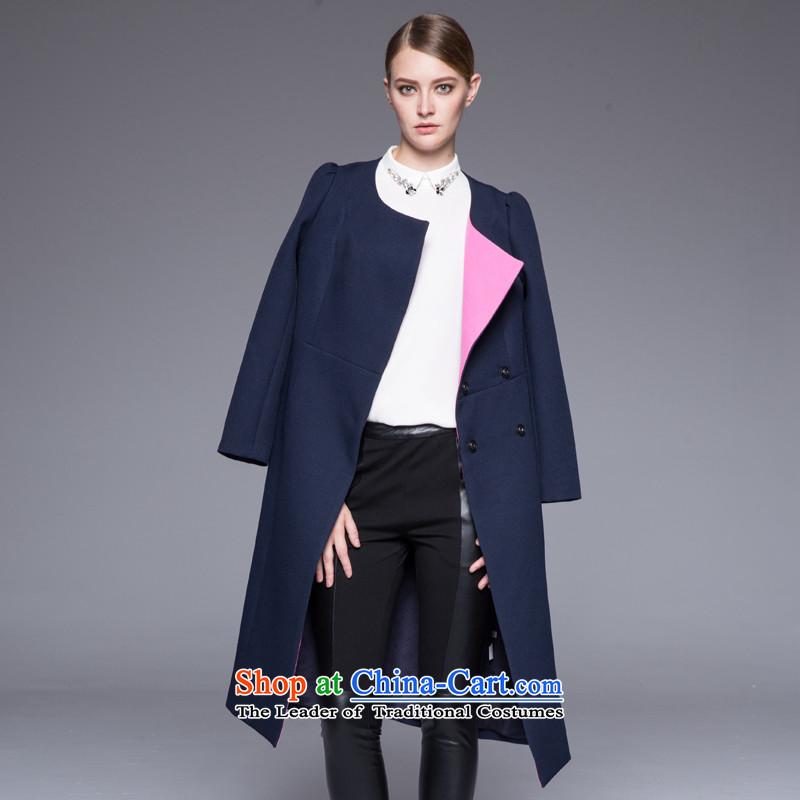Hayek terrace _MAXILU_ Navy Stylish coat燤867C3011C46 temperament XL