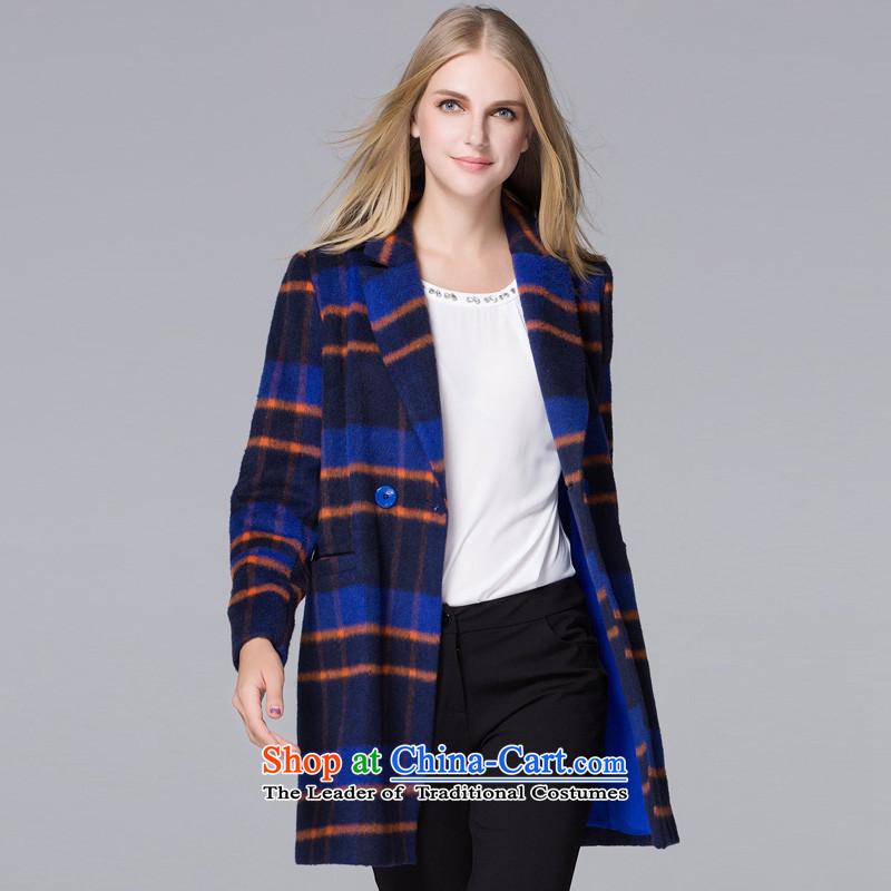Hayek terrace _blue_ and multi-colored MAXILU latticed wild coats燤867A5030C61 M