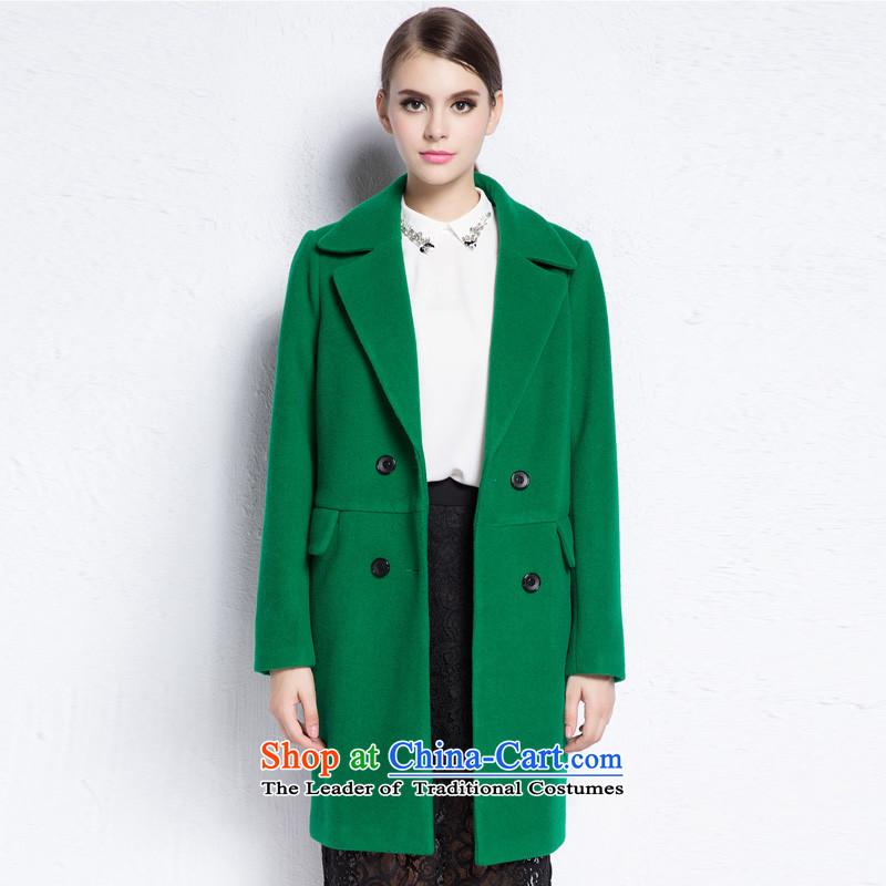 Hayek terrace _MAXILU_ green coats燤867A5002C07 stylish and elegant L