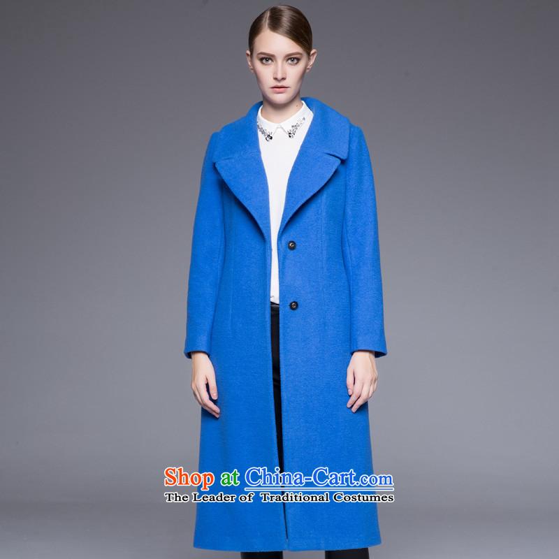 Arts _yiman Overgrown Tomb_ Blue Stylish coat燳867B4055C05 Sau San temperament M