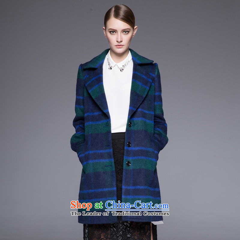 Arts _yiman Overgrown Tomb_ Green multi-color coats of trend of stylish temperament聽Y867A5028C68 M