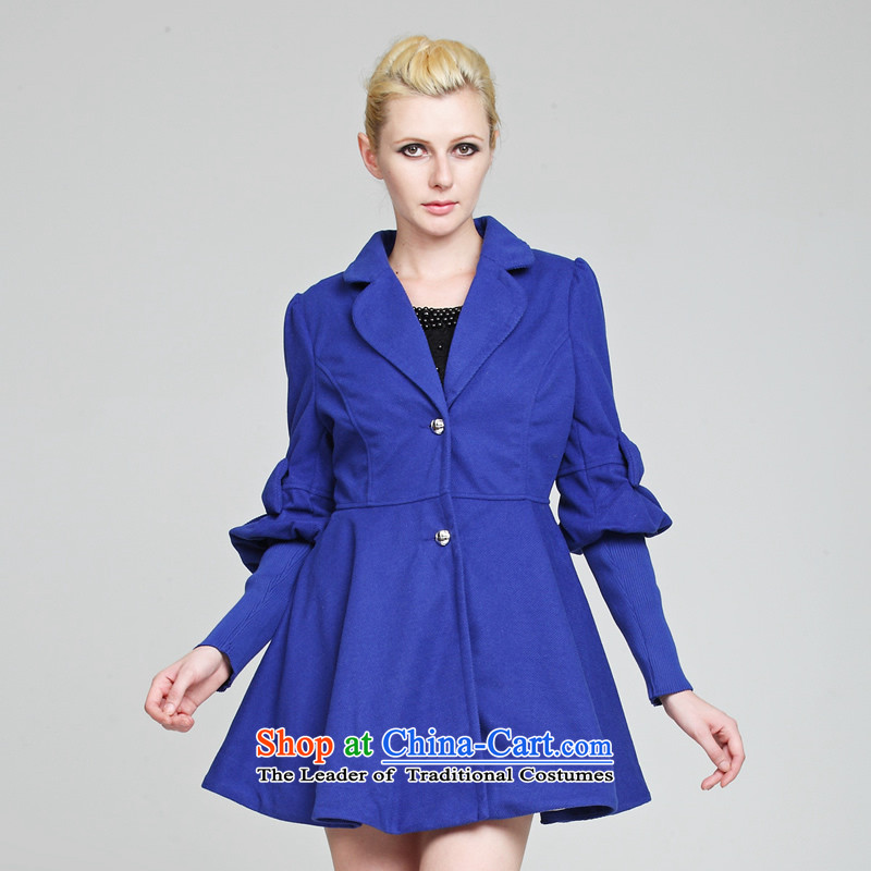 Hundreds of Praia Gigi Lai _BIOPLAZM 011421054202609_ during the spring and autumn of this long coats that Sau San? jacket alcohol blue XL