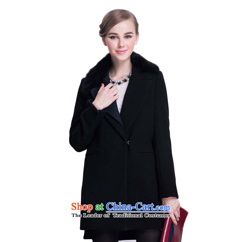Chaplain Mai-mai _CHIU SHUI_ knocked color asymmetric collar jacket coat gross Sau San? Black M 634112235
